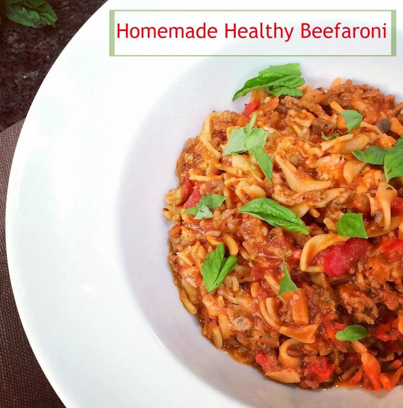 Homemade Healthy Beefaroni