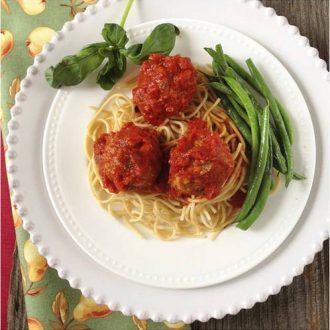Garden Turkey Meatballs & Spaghetti