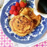 Whole Grain Banana-Chocolate Chip Pancakes