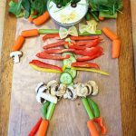 Rainbow Vegetable Dip + How to Make a Halloween Vegetable Skeleton