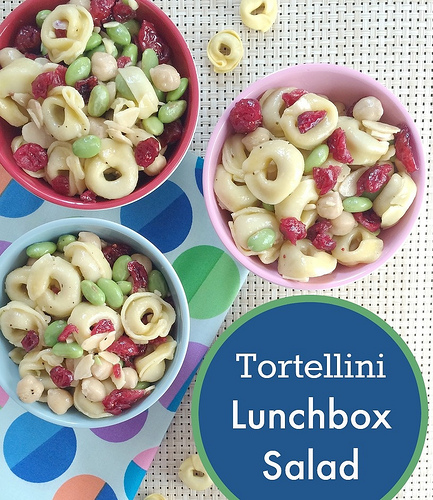 Tortellini Lunchbox Salad via LizsHeatlhyTable.com