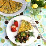 Eggy Asparagus Omelet Pie