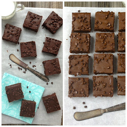 Fudgy Black Bean Brownies via www.LizsHealthyTable.com #glutenfree #beans