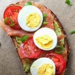 Avocado Toast with Smoked Salmon, Tomato, and Egg