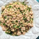 Freekeh Salad with Caramelized Cauliflower and Tuna