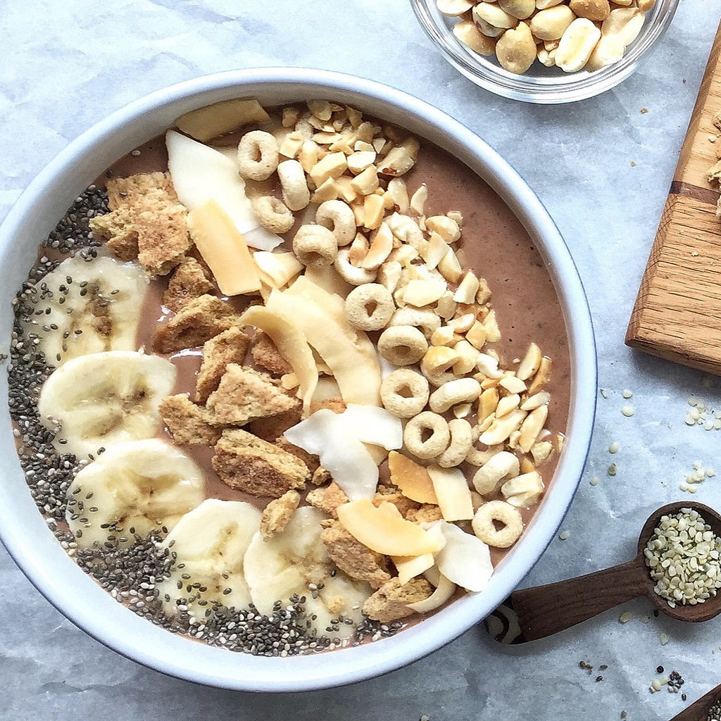 Banana Peanut Butter Chocolate Smoothie Bowl