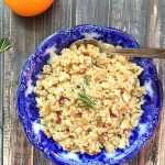 Orange Rosemary Quinoa with Beans and Pecans