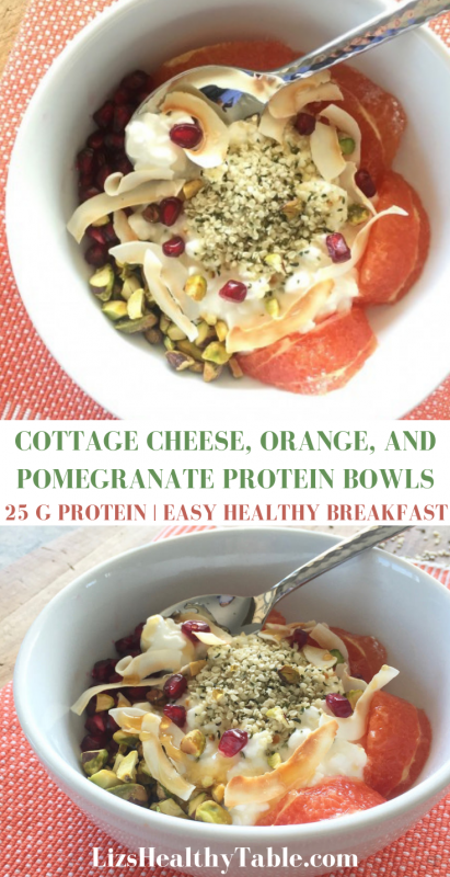 Cottage Cheese Orange And Pomegranate Protein Bowls