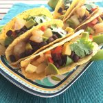Shrimp Tacos with Black Bean Salsa