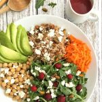 Arugula, Farro and Pistachio Salad with Raspberry Vinaigrette