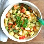 Crunchy, Juicy Apple, Edamame and Chickpea Salad