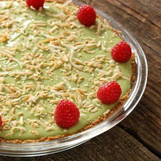 Avocado Yogurt Key Lime Pie