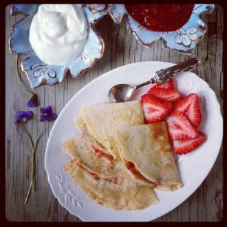 Peanut Butter Crepes with Strawberry Sauce + Napa Valley Food Adventure