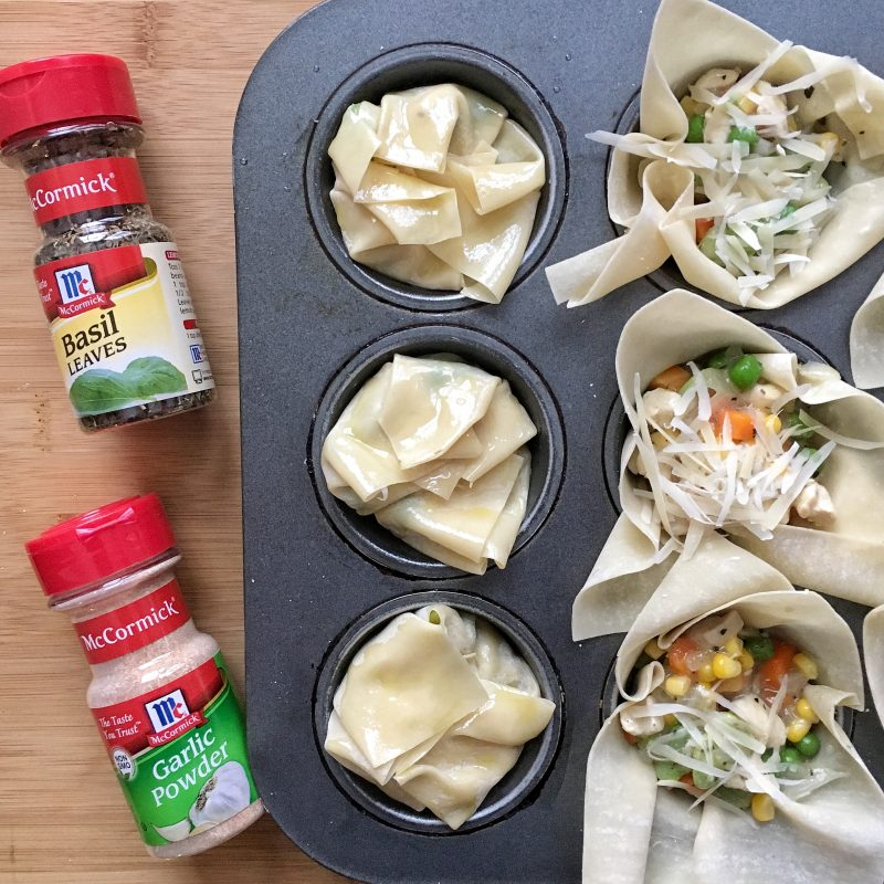 Chicken Pot Pie Bundles via LizsHealthyTable.com