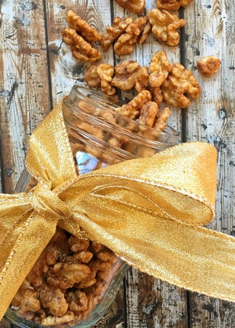 Cinnamon-Spiced Roasted Walnuts via LizsHealthyTable.com