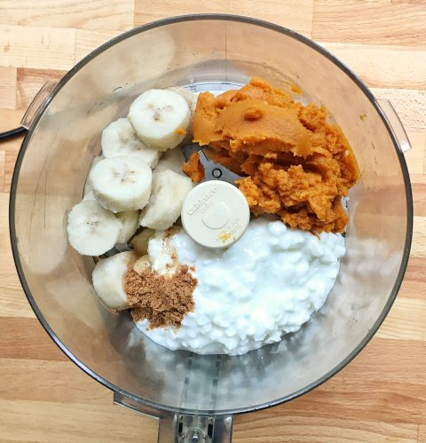 Healthy Gingersnap Pumpkin Mousse via LizsHealthyTable.com
