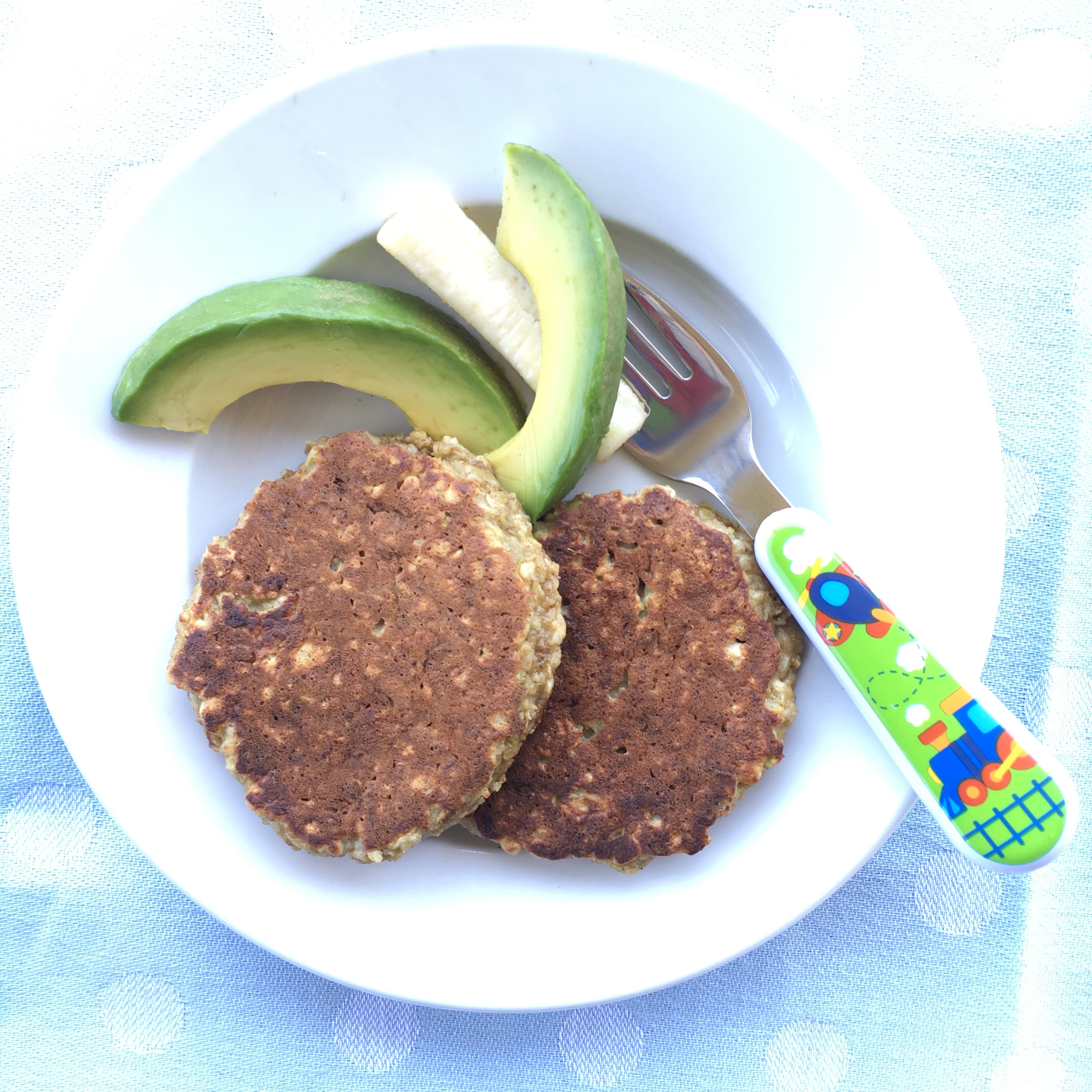 Fluffy ricotta and california avocado pancakes katie is an expert on baby led weaning aka baby led feeding she has one year old forumfinder Images