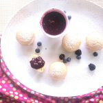 Lemon Olive Oil Cakes with Mixed Berry Sauce