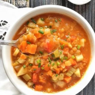 Red Lentil Soup with Root Vegetables and Sage + Plant-Powered for Life