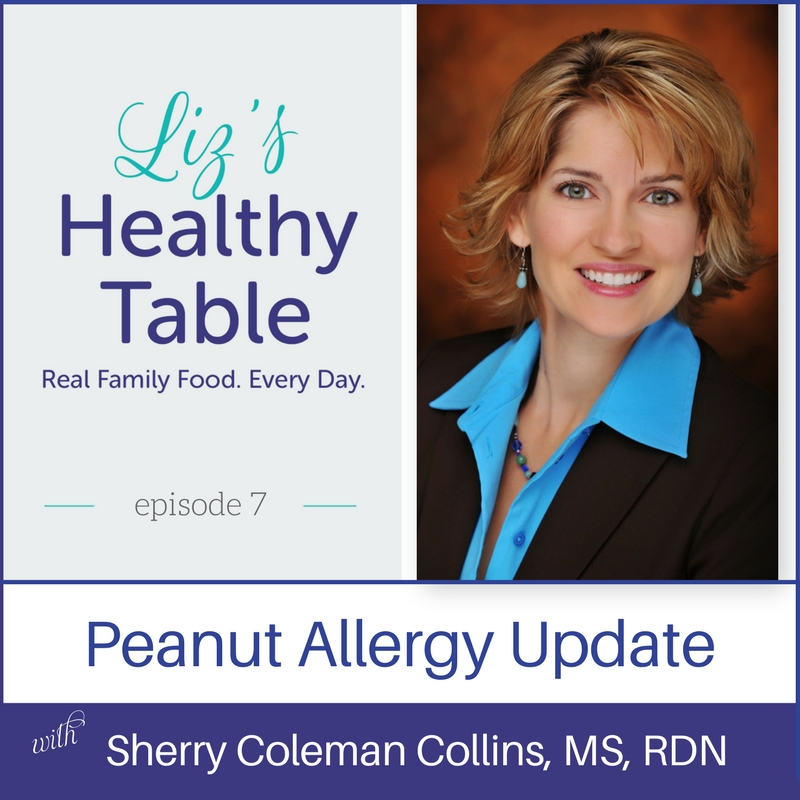Introducing peanut foods to infants #podcast via LizsHealthyTable.com