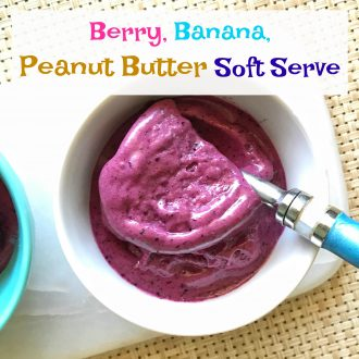 Berry, Banana, Peanut Butter Soft Serve