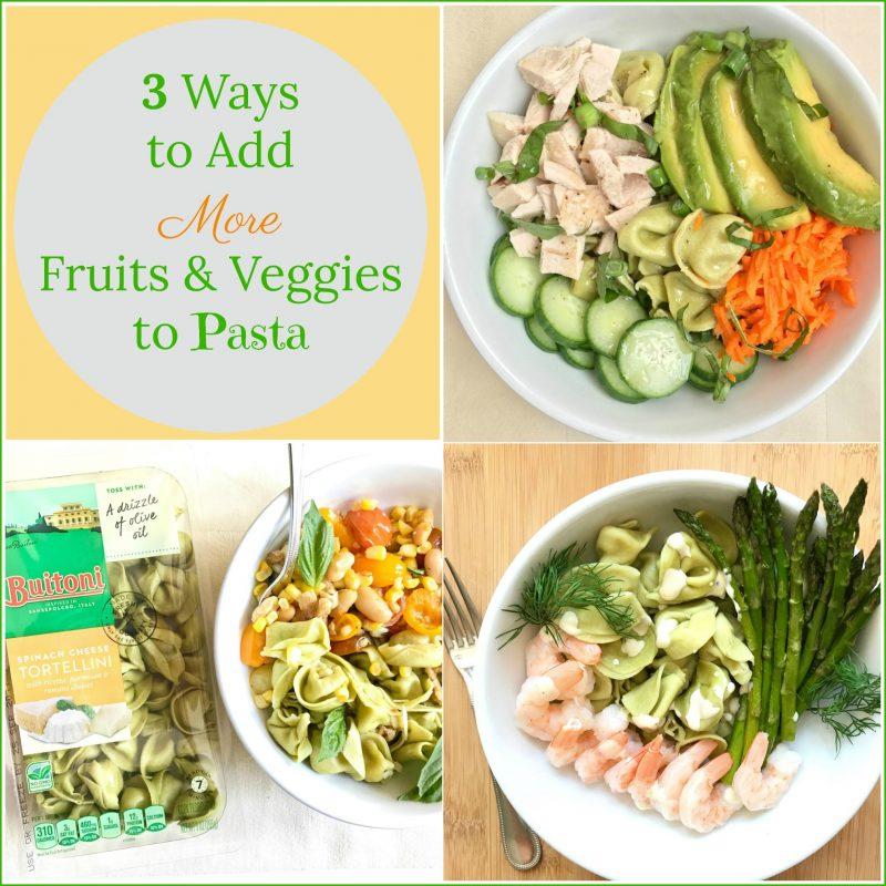 3 Ways to add More Fruits & Veggies to Pasta via LizsHealthyTable.com