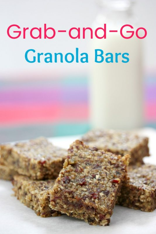 Grab-and-Go Granola Bars via LizsHealthyTable.com #breakfast #snack