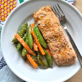 Teriyaki Salmon, Snow Peas, and Carrot Packets