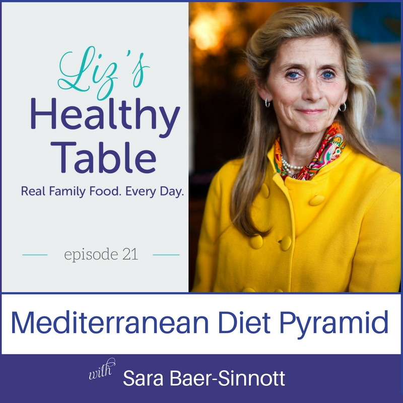 Mediterranean Diet Pyramid on Liz's Healthy Table #podcast