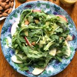 Arugula, Apple & Brussels Sprouts Salad with Lemon Shallot Vinaigrette