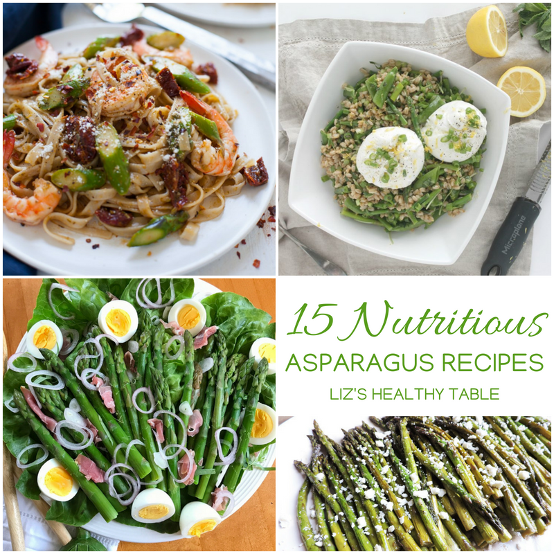 Asparagus recipe roundup via LizsHealthyTable.com