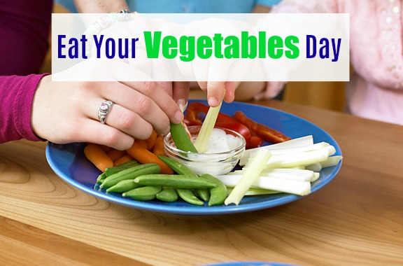 Eat Your Vegetables Day via LizsHealthyTable.com