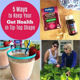 5 Ways to Keep Your Gut Health in Tip-Top Shape + Banana, Berry & Watermelon, Smoothie