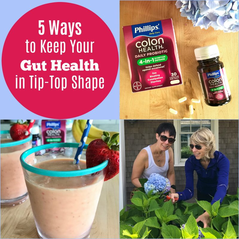 5 Ways to Keep Your Gut Health in Tip-Top Shape via LizsHealthyTable.com #microbiome