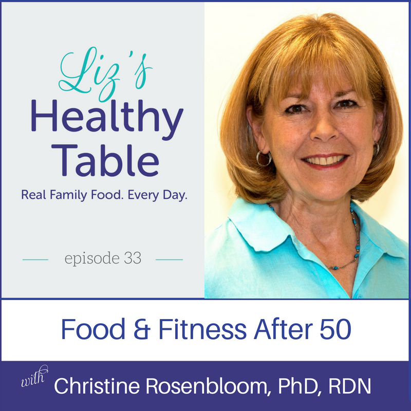 Food & Fitness After 50 via LizsHealthyTable.com #podcast