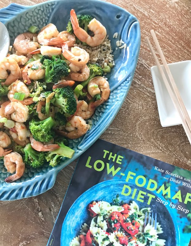 Shrimp stir fry with broccoli Low-FODMAP