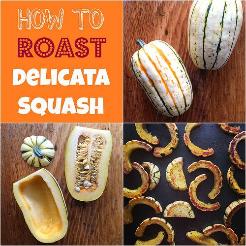 How to roast delicata squash via LizsHealthyTable.com