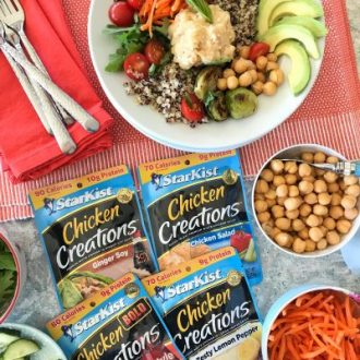 Build-Your-Own Chicken, Quinoa, and Vegetable Buddha Bowls