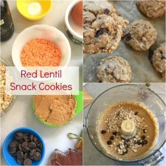 Red Lentil Snack Cookies