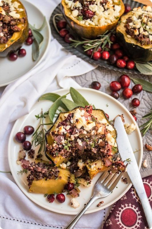 17 Stuffed Winter Squash Recipes via LizsHealthyTable.com