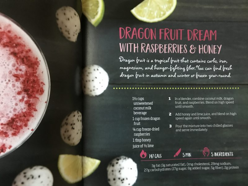 Dragon Fruit Dream smoothie via LizsHealthyTable.com #podcast