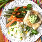 Cod, Carrot & Green Bean Foil Packets with Lime Avocado Sauce