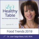 Liz's Healthy Table Podcast Episode 45: Food Trends 2019 with Dr. Joan Salge Blake, EdD, RDN