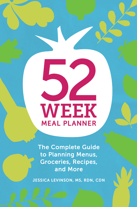 52 week meal planner by Jessica Levinson via lizshealthytable.com