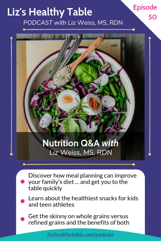 Nutrition Q&A on the Liz's Healthy Table #podcast