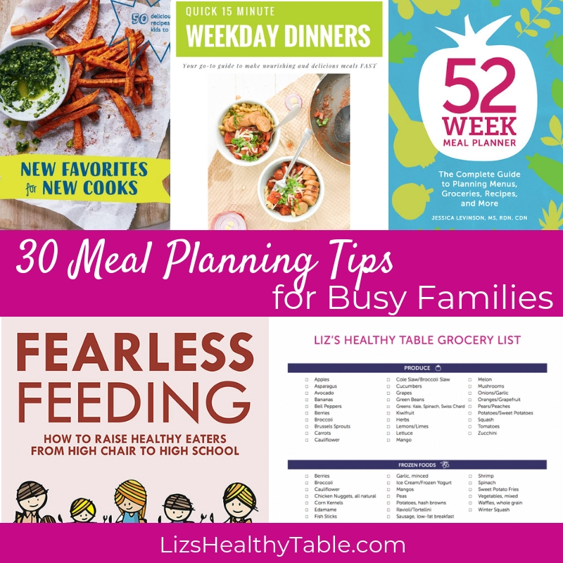 Meal Planning Tips via lizshealthytable.com