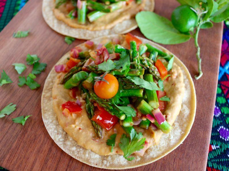 Spicy Hummus Veggie Tacos