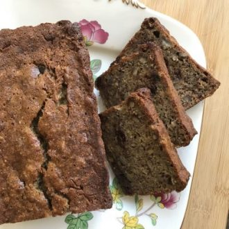 Golden Banana Bread with Dark Chocolate Chips