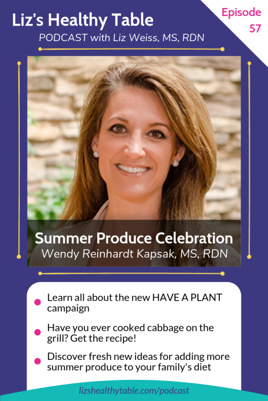 Summer Produce Celebration with Produce for Better Health Foundation via lizshealthytable.com #podcast