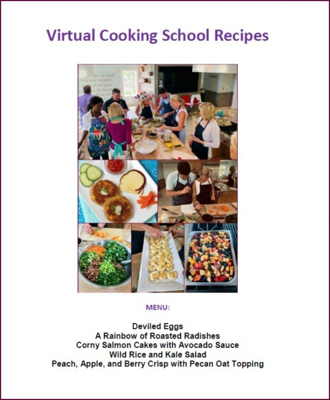 Virtual Cooking School Recipes FREE download on lizshealthytable.com